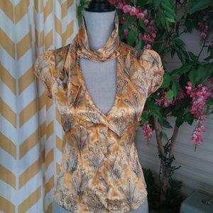 Free People size 2 100% silk sleeveless blouse